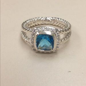david yurman ring blue topaz
